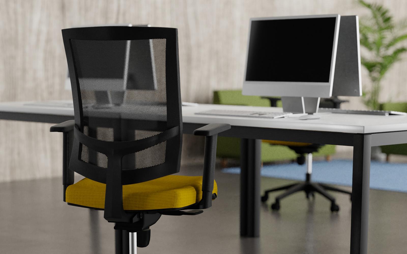 Sillas y escritorios